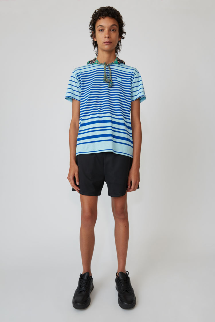 Acne Studios - T-Shirt mit Rundhalsausschnitt Jeansblau - 1