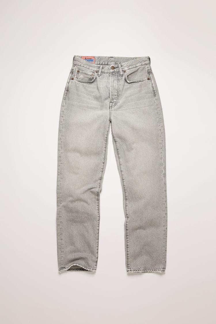 아크네 스튜디오 Acne Studios Cropped straight fit jeans stone grey