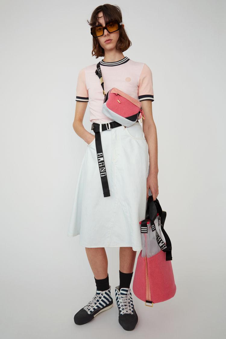 아크네 스튜디오 Acne Studios Flared denim skirt cold white