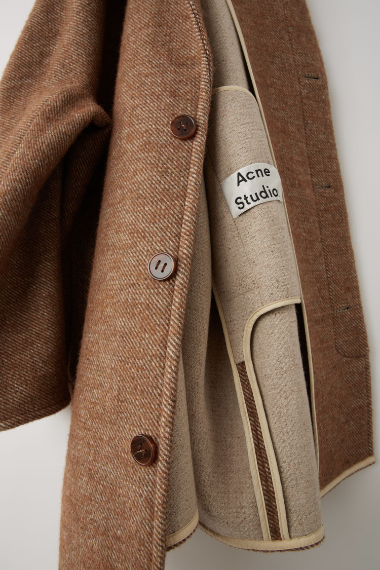 Acne Studios - Cocoon jacket Camel brown - 6