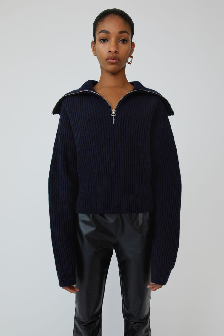 Acne Studios - Ribbed sweater Dark navy - 1