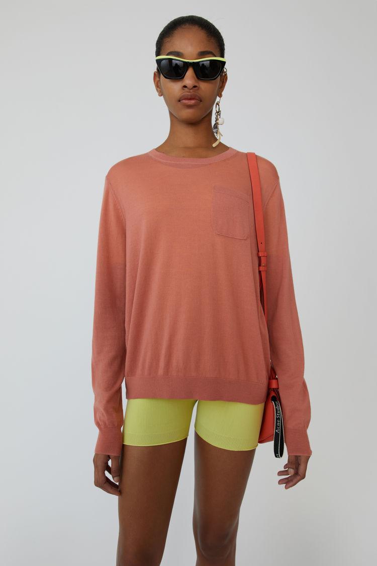 아크네 스튜디오 스웨터 Acne Studios Lightweight sweater dusty pink