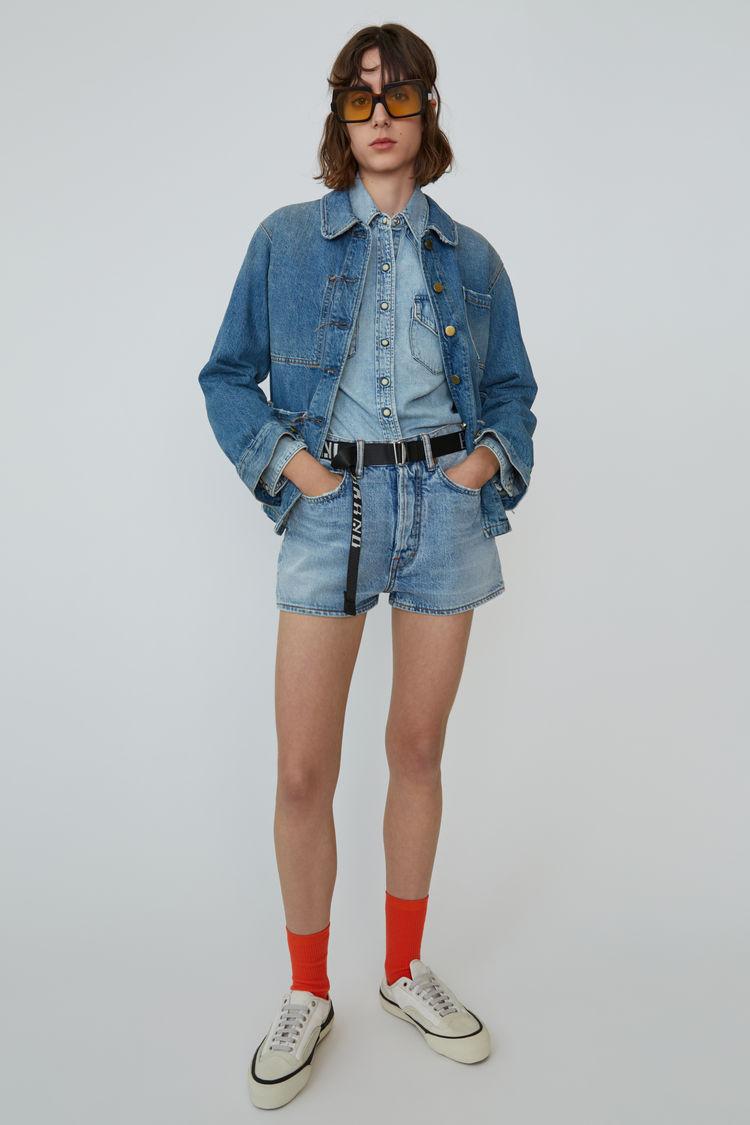 아크네 스튜디오 Acne Studios Denim shorts light blue