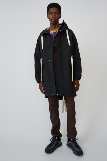 아크네 스튜디오 Acne Studios Padded fishtail parka black / black