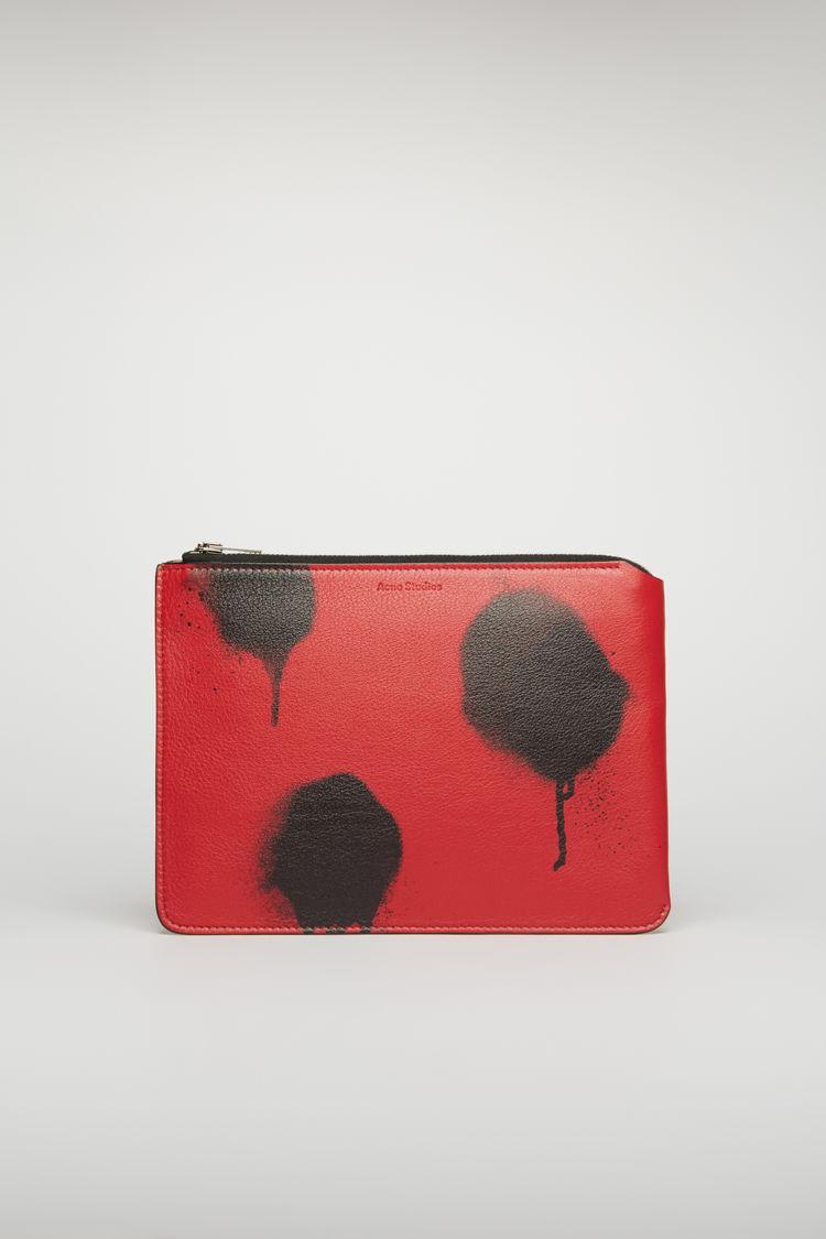 아크네 스튜디오 Acne Studios Graffiti-print document holder red/black
