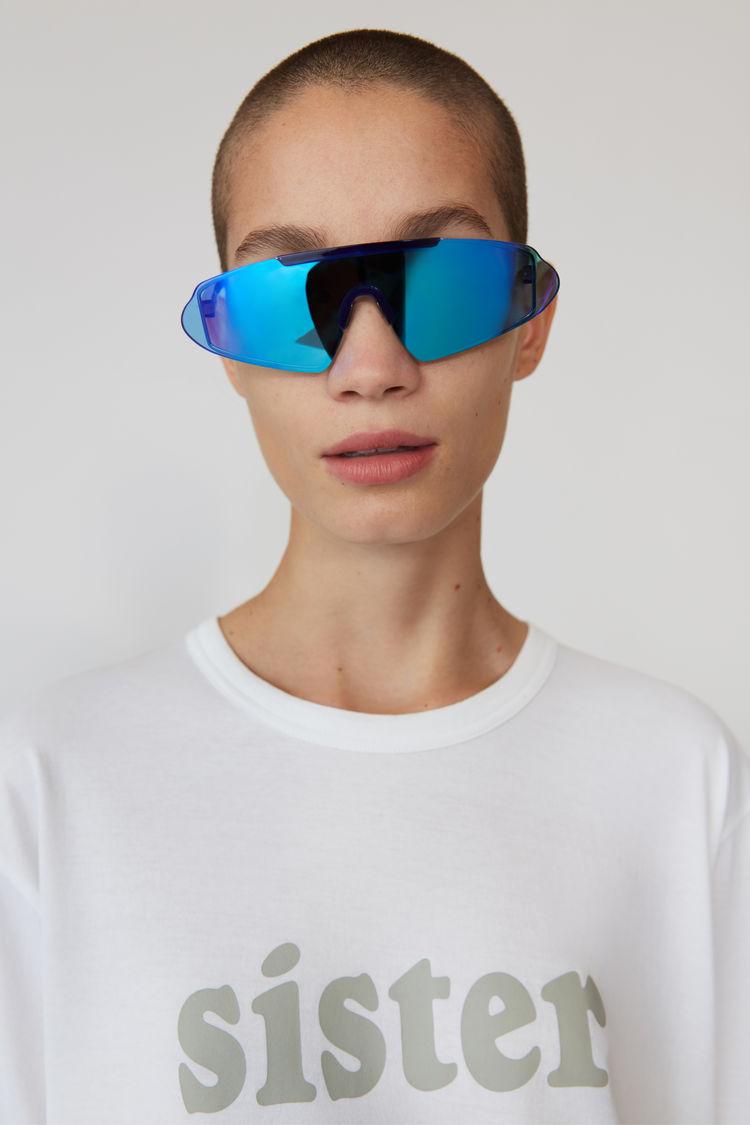 Acne Studios - T-Shirt mit Print Optisches Weiß - 2