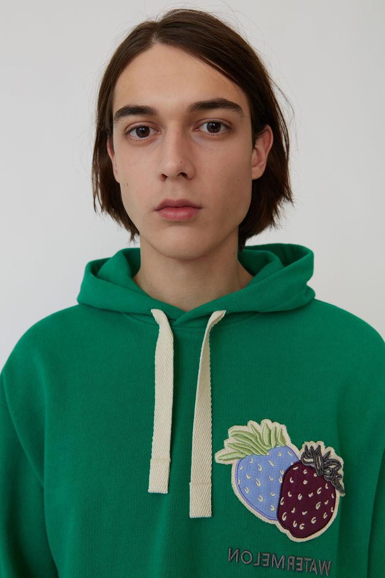 Acne Studios - Kapuzen-Sweatshirt Smaragdgrün - 2