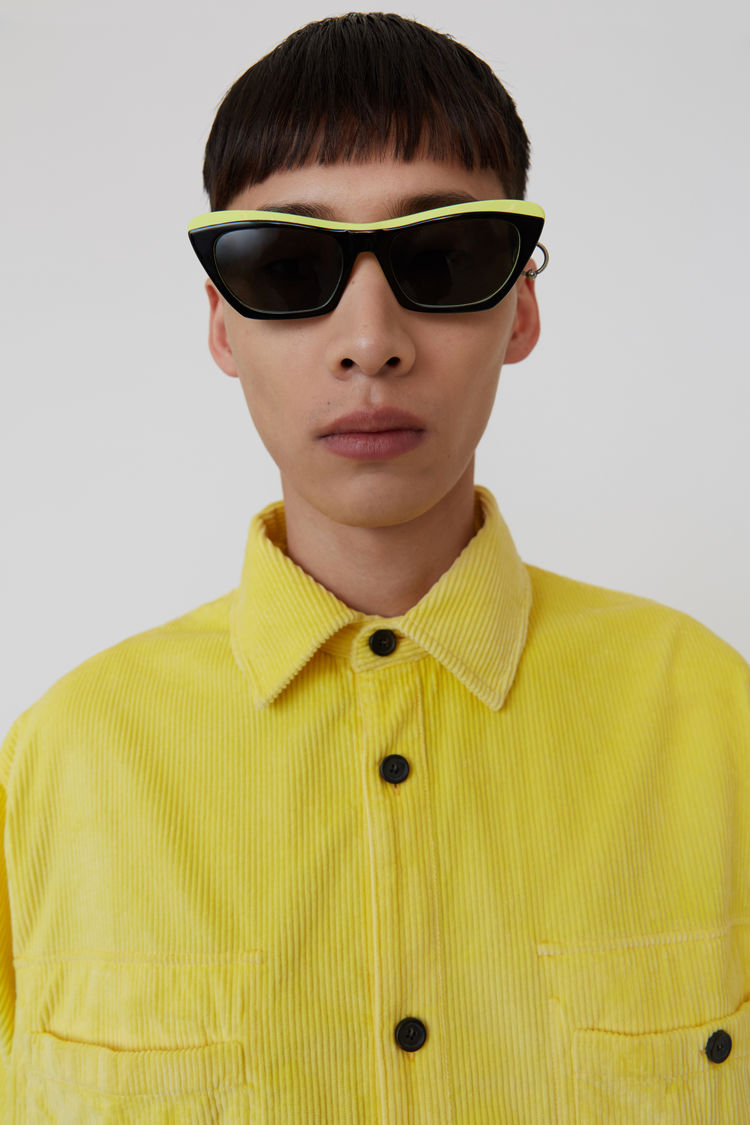 Acne Studios - Corduroy shirt Light yellow - 2