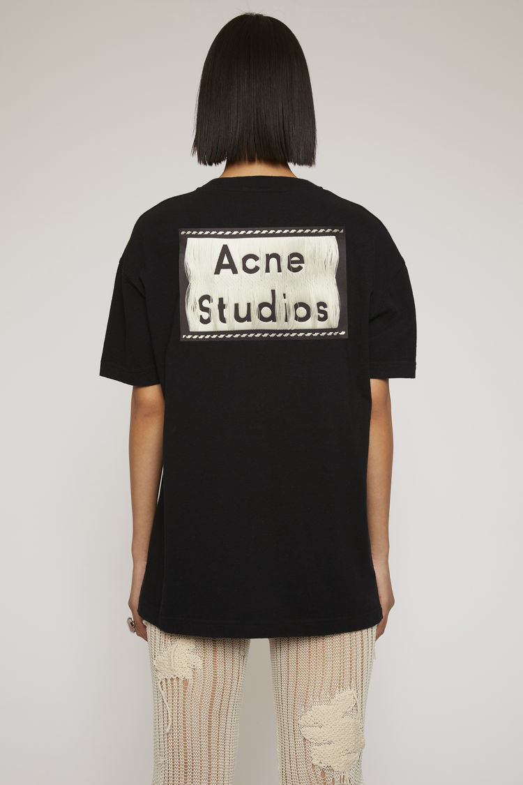 아크네 스튜디오 Acne Studios Reverse-label t-shirt black