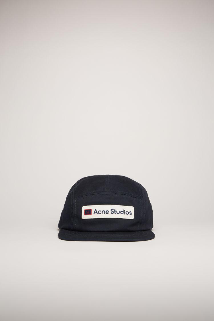 아크네 스튜디오 로고 패치 볼캡 모자 Acne Studios Twill logo patch cap dark navy