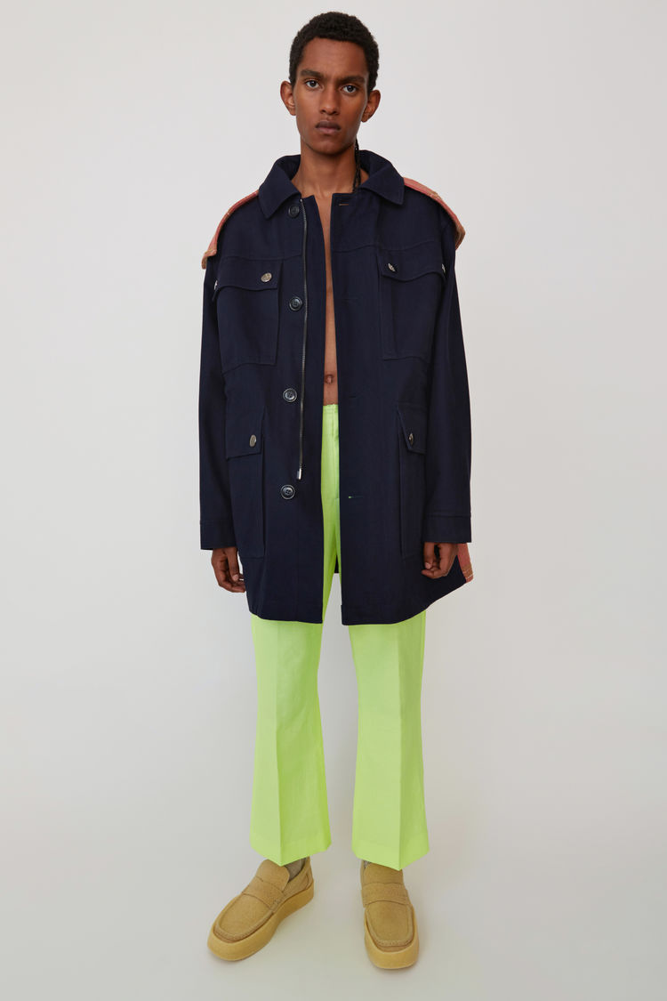Acne Studios - Hooded parka Navy blue - 1