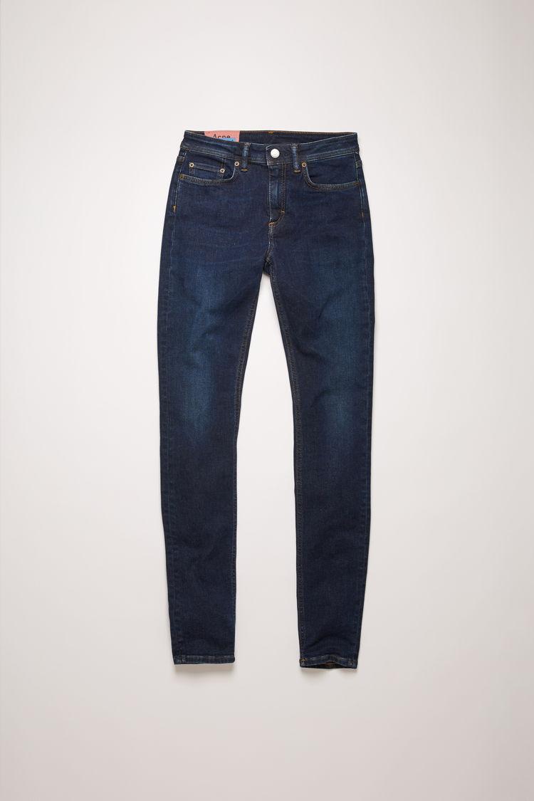 아크네 스튜디오 Acne Studios Mid-rise skinny jeans dark blue