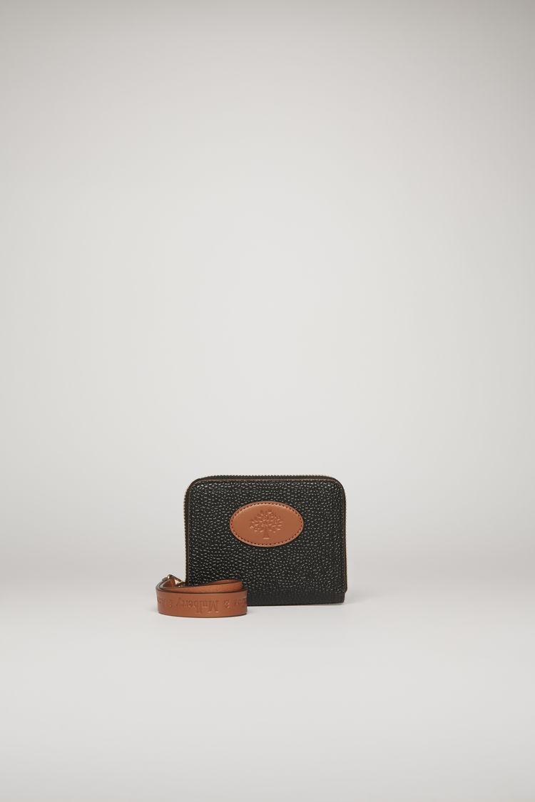 아크네 스튜디오 Acne Studios Small Zip Around Purse Scotch grain black