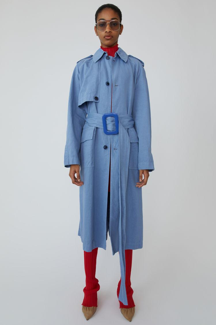 아크네 스튜디오 롱 코트 Acne Studios Long cotton coat mineral blue