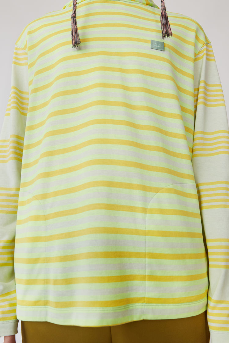 Acne Studios - Kapuzen-T-Shirt mit langem Arm Pastellgrün - 5