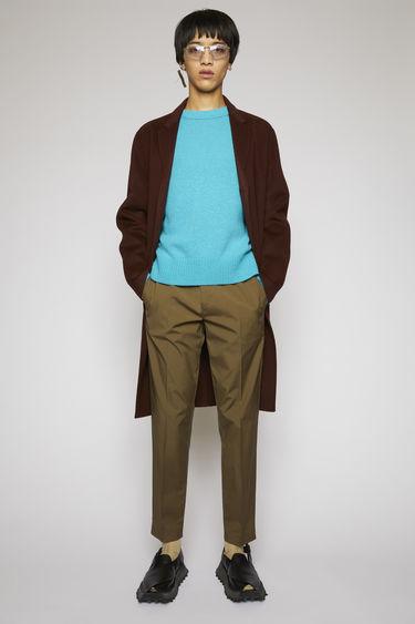 아크네 스튜디오 Acne Studios Elastic-waist cotton trousers hunter green