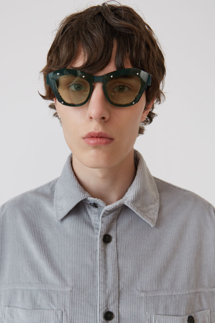 Acne Studios - Corduroy shirt Light grey - 2