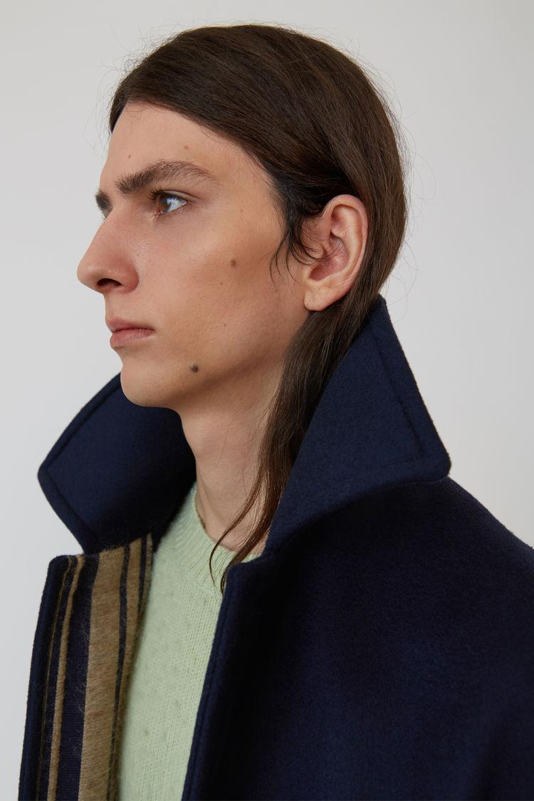 Acne Studios - Wool coat Navy blue - 7