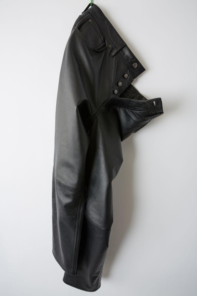Acne Studios - Leather pants Black - 6