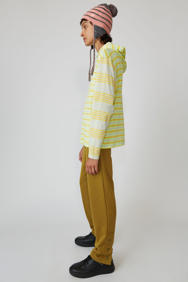 Acne Studios - Kapuzen-T-Shirt mit langem Arm Pastellgrün - 4