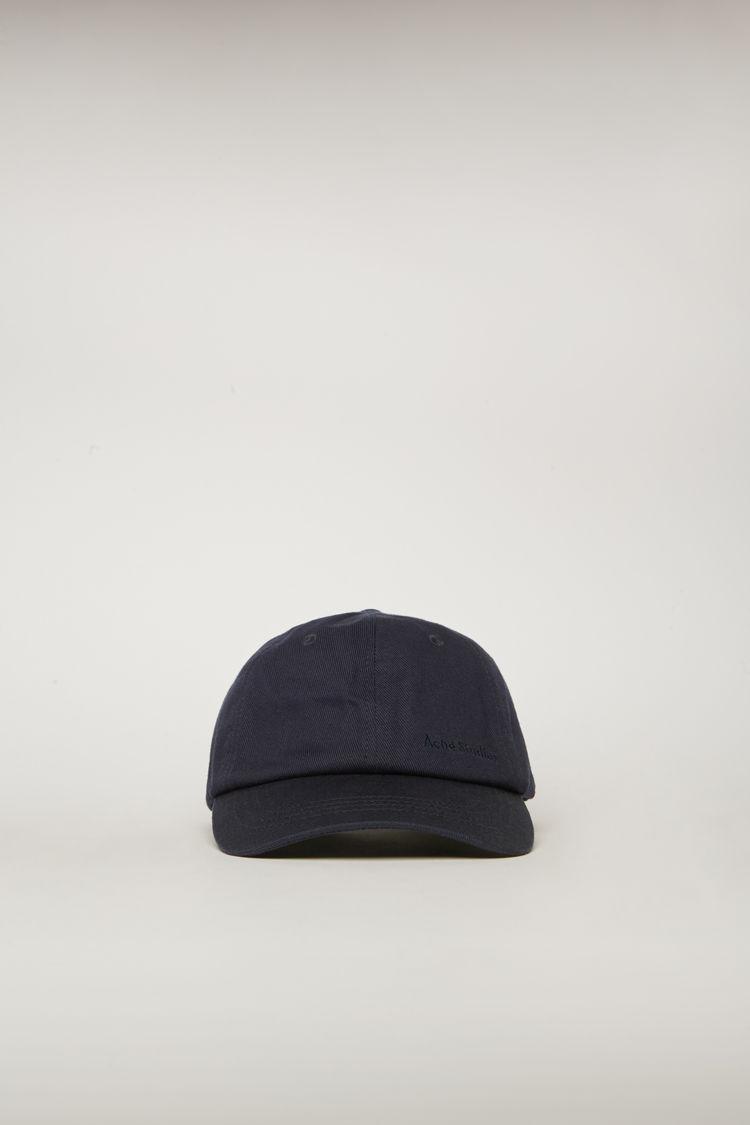 아크네 스튜디오 볼캡 모자 Acne Studios Logo-embroidered cap navy blue