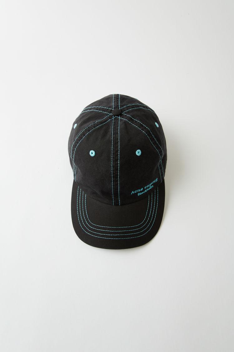 아크네 스튜디오 Acne Studios Baseball cap black / black