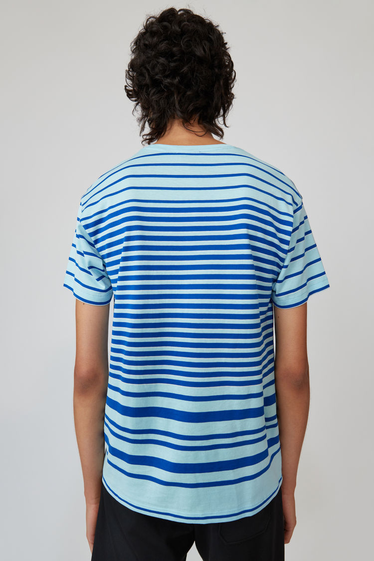 Acne Studios - T-Shirt mit Rundhalsausschnitt Jeansblau - 3