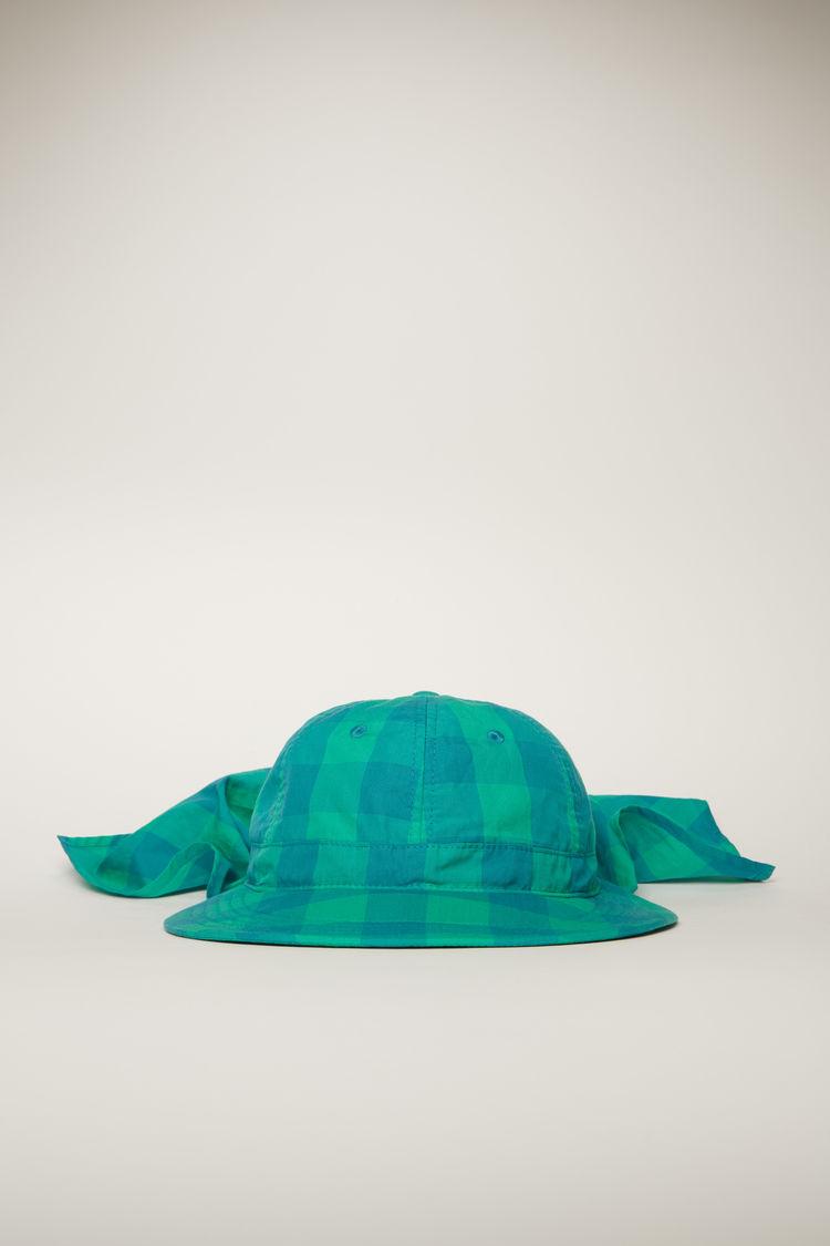 아크네 스튜디오 Acne Studios Vichy-check safari hat emerald green