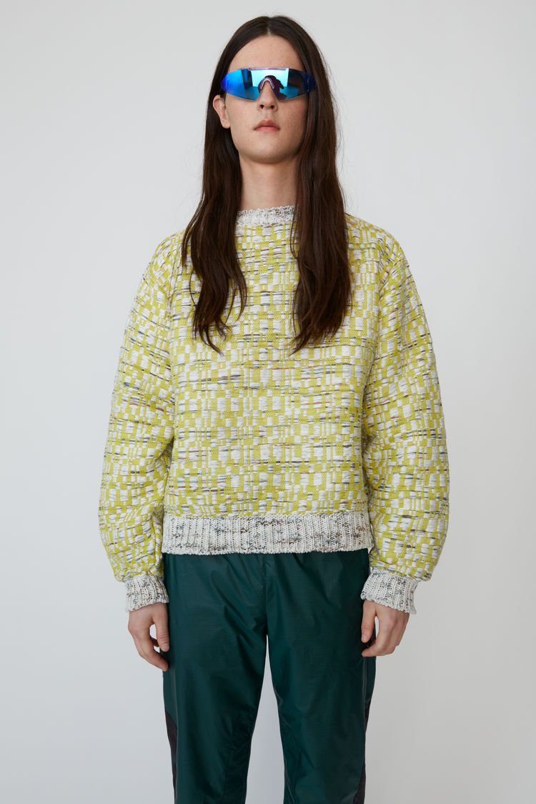 아크네 스튜디오 Acne Studios Oversized crewneck sweater brown/yellow