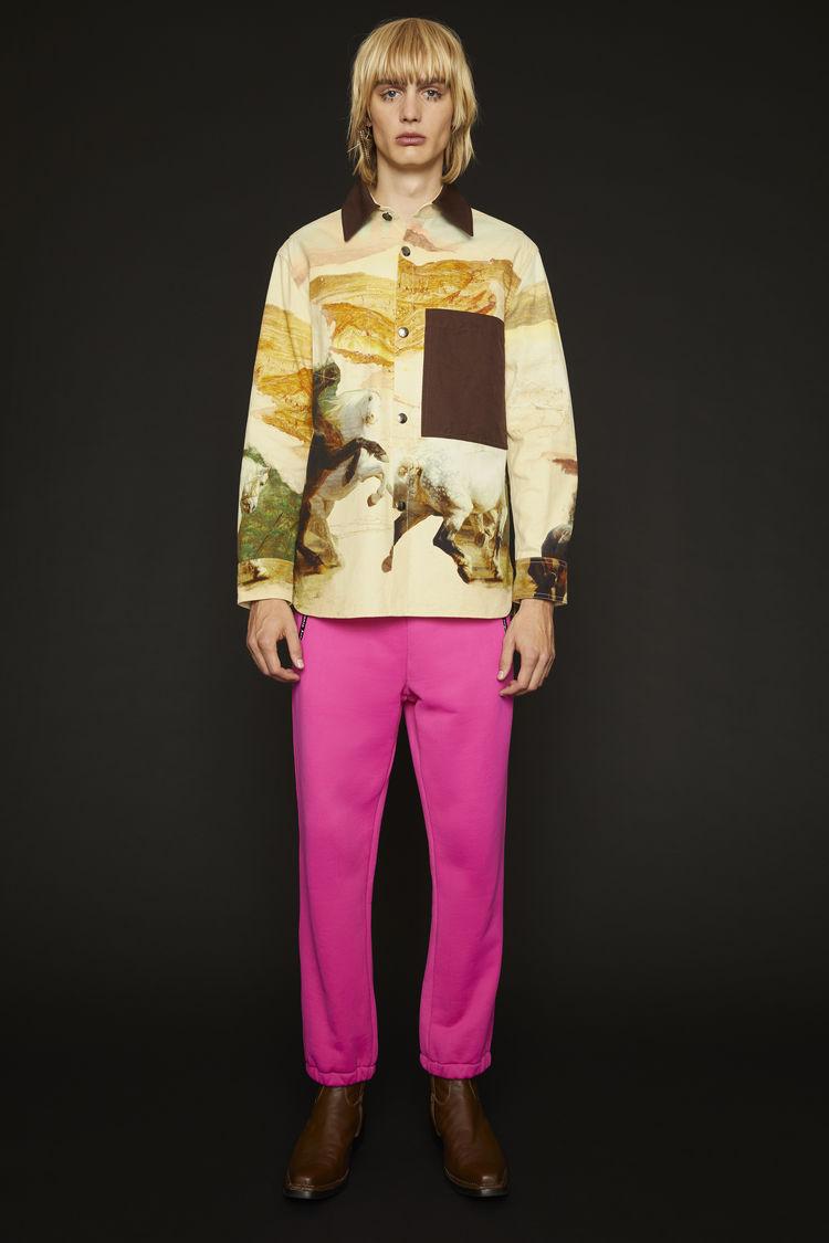 아크네 스튜디오 Acne Studios Horse-print chore jacket cream multi