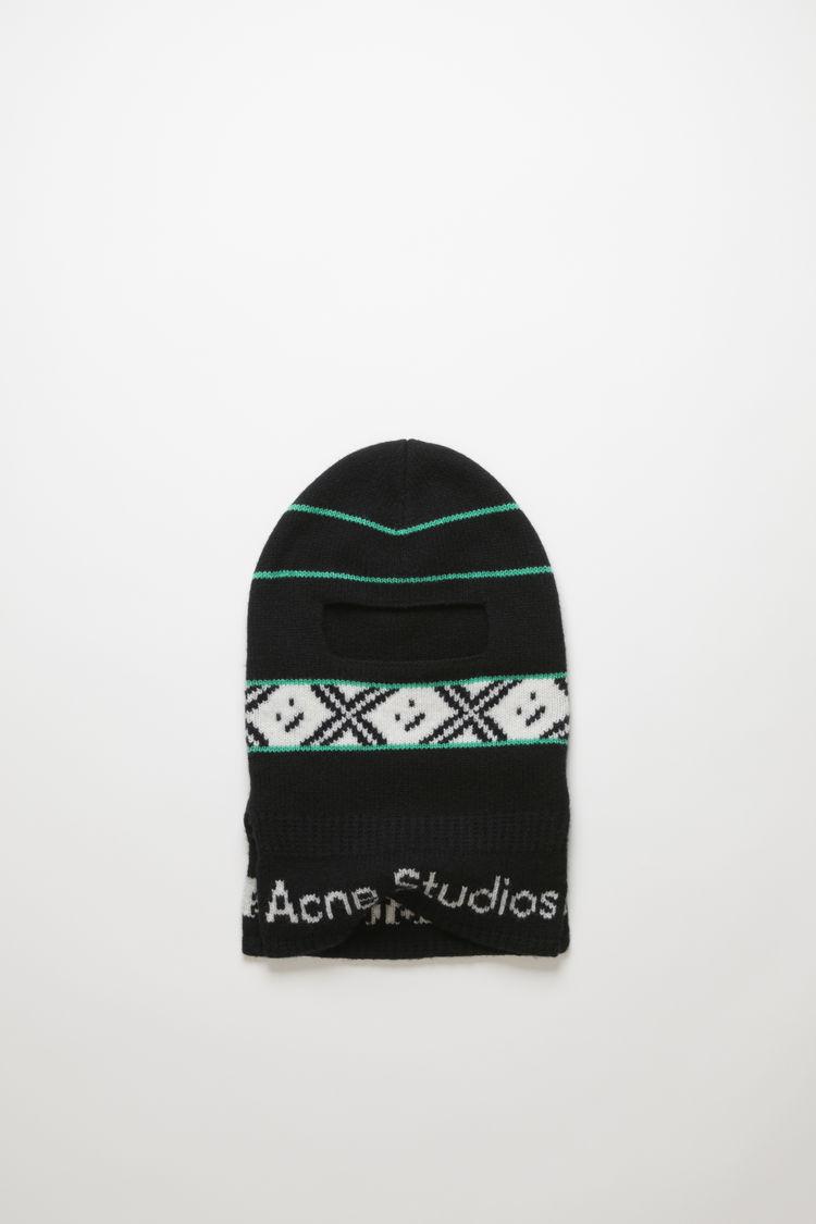 아크네 스튜디오 로고 발라클라바 Acne Studios Logo jacquard balaclava black multicolor