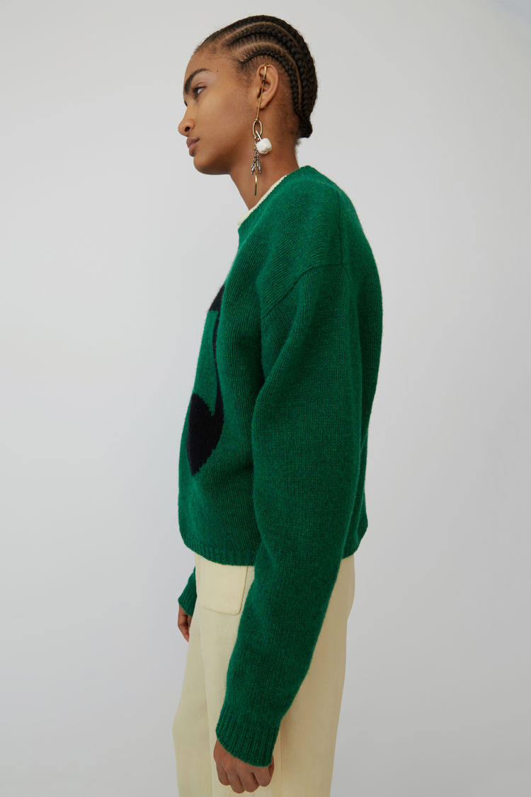 Acne Studios - Music note sweater Green/black - 4
