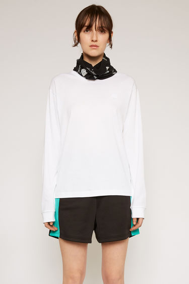 아크네 스튜디오 크루넥 티셔츠 Acne Studios Long sleeve crew neck optic white