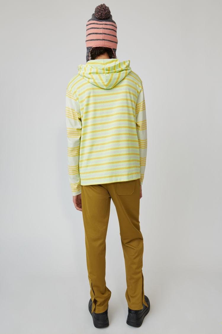 Acne Studios - Kapuzen-T-Shirt mit langem Arm Pastellgrün - 3