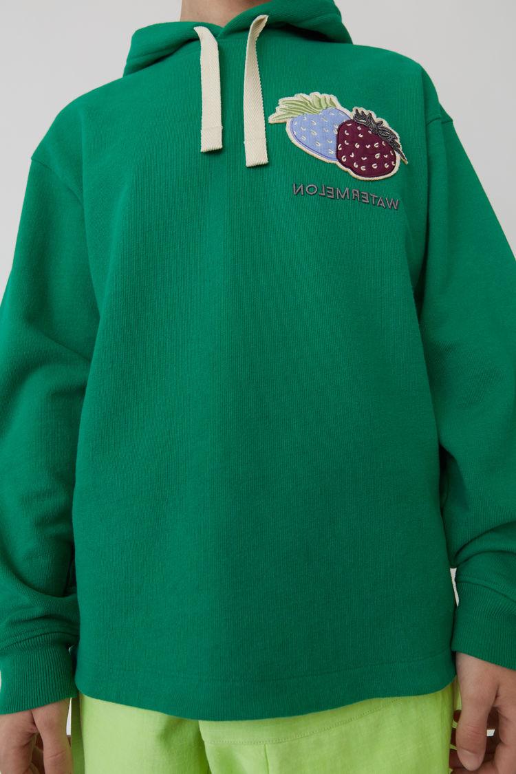 Acne Studios - Kapuzen-Sweatshirt Smaragdgrün - 5