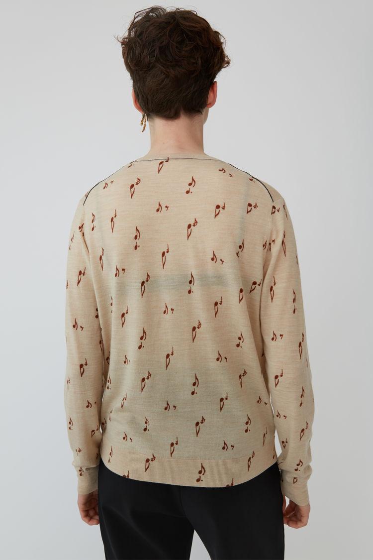 Acne Studios - Patterned sweater Beige melange - 3