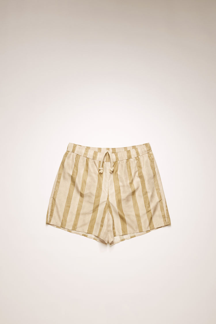 아크네 스튜디오 Acne Studios Striped swim shorts cold beige/warm white