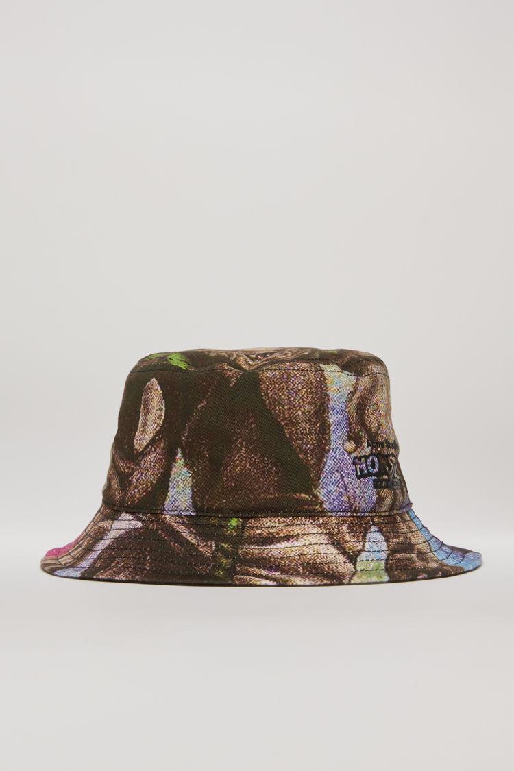 아크네 스튜디오 Acne Studios Monster-print bucket hat multi pink