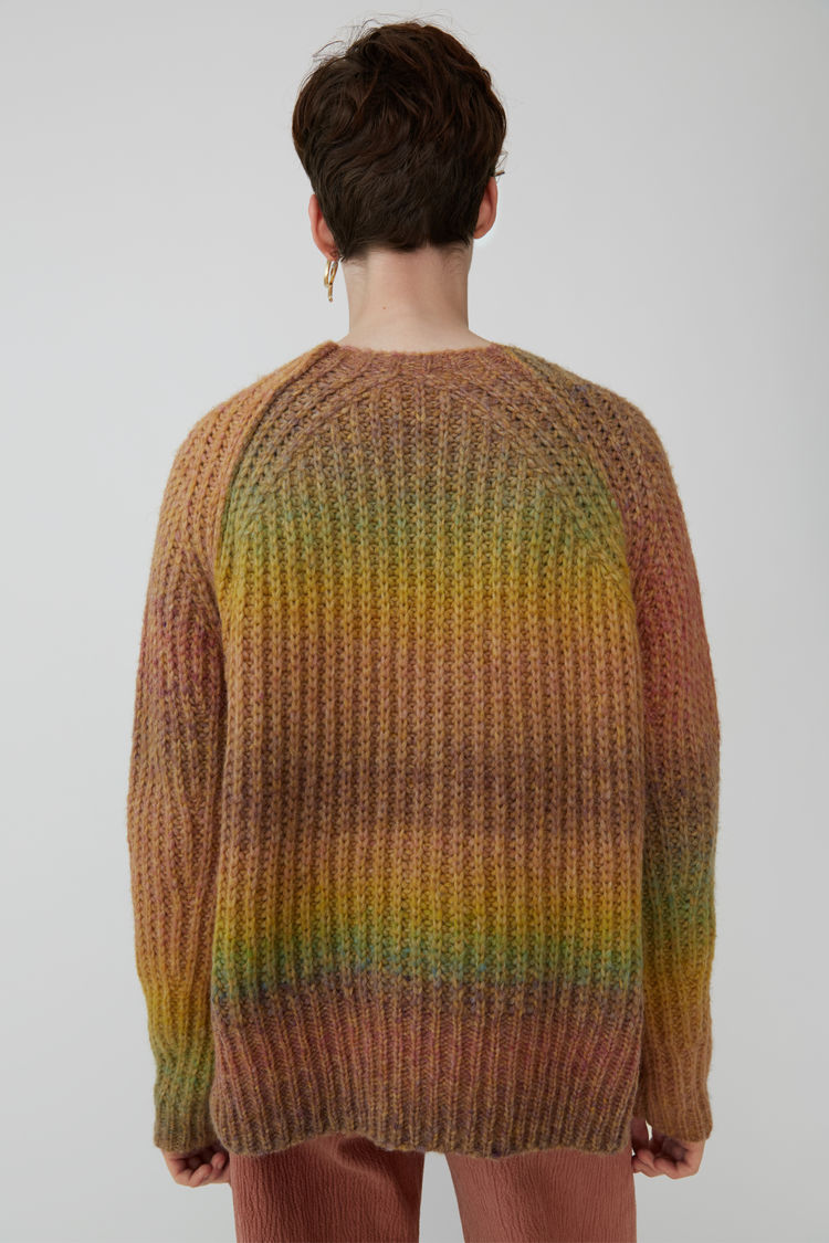 Acne Studios - OmbrZ striped sweater Yellow/pink - 3