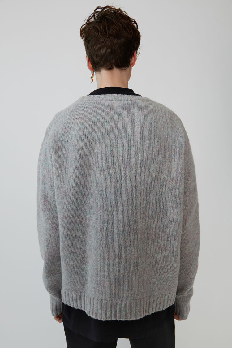 Acne Studios - Music note sweater Lilac mel/black - 3