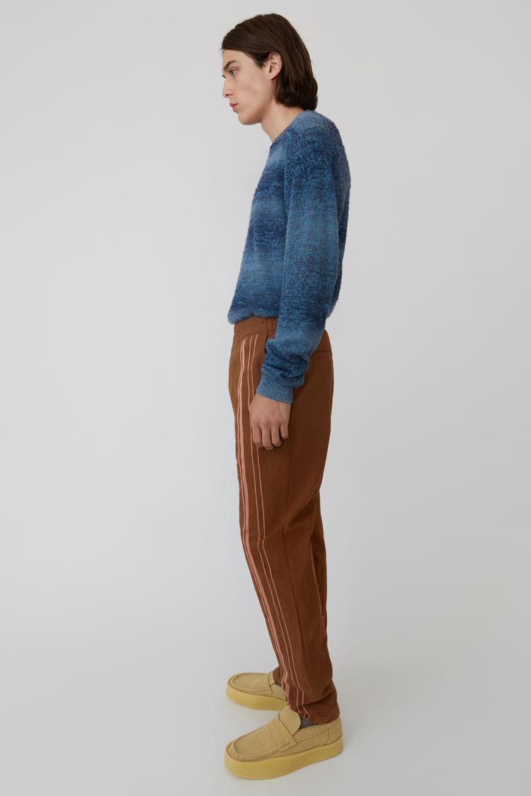 Acne Studios - Sporty trousers Brown/Ginger Orange - 4