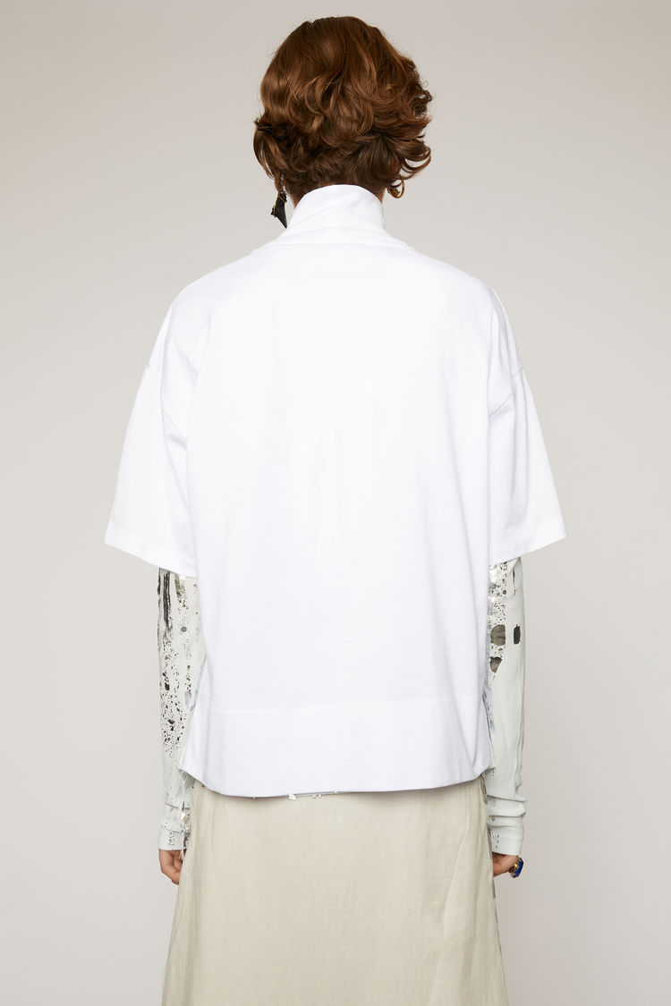 Acne Studios - Mock neck t-shirt Optic White - 2