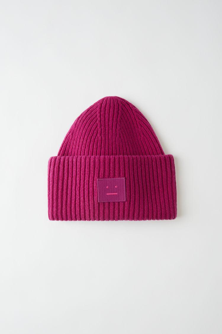 아크네 스튜디오 Acne Studios Oversized beanie magenta pink