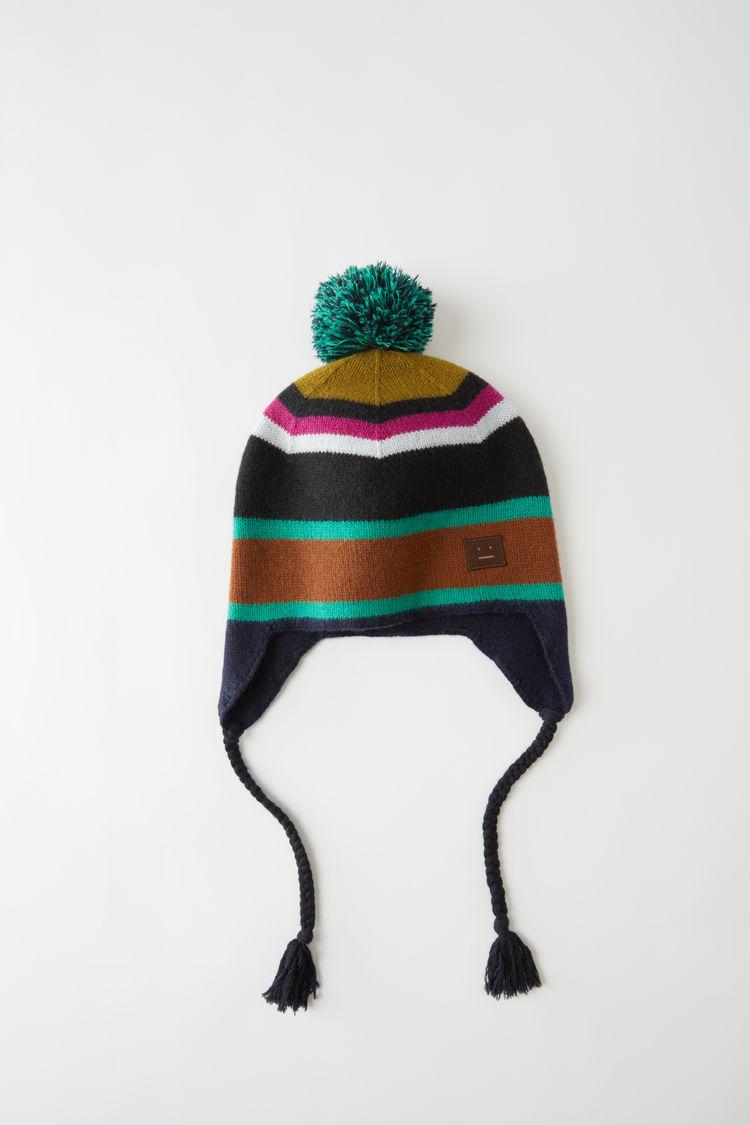 아크네 스튜디오 Acne Studios Knit ear flap hat black multicolor