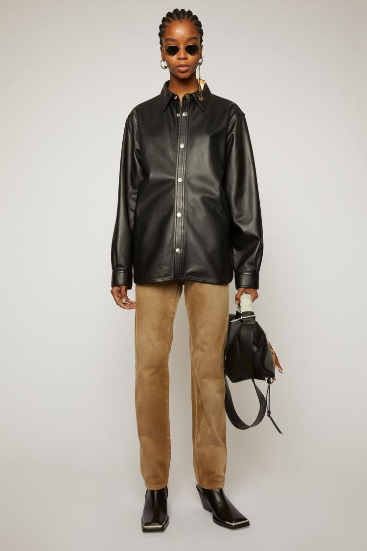 아크네 스튜디오 Acne Studios Leather overshirt black