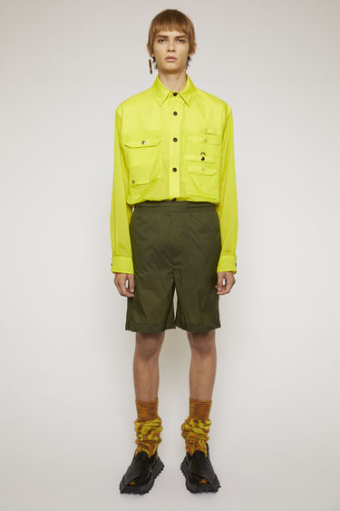 아크네 스튜디오 Acne Studios Ripstop shorts deep green
