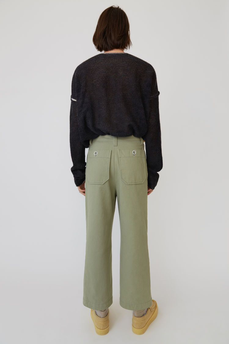 Acne Studios - Cotton trousers Stone grey - 3