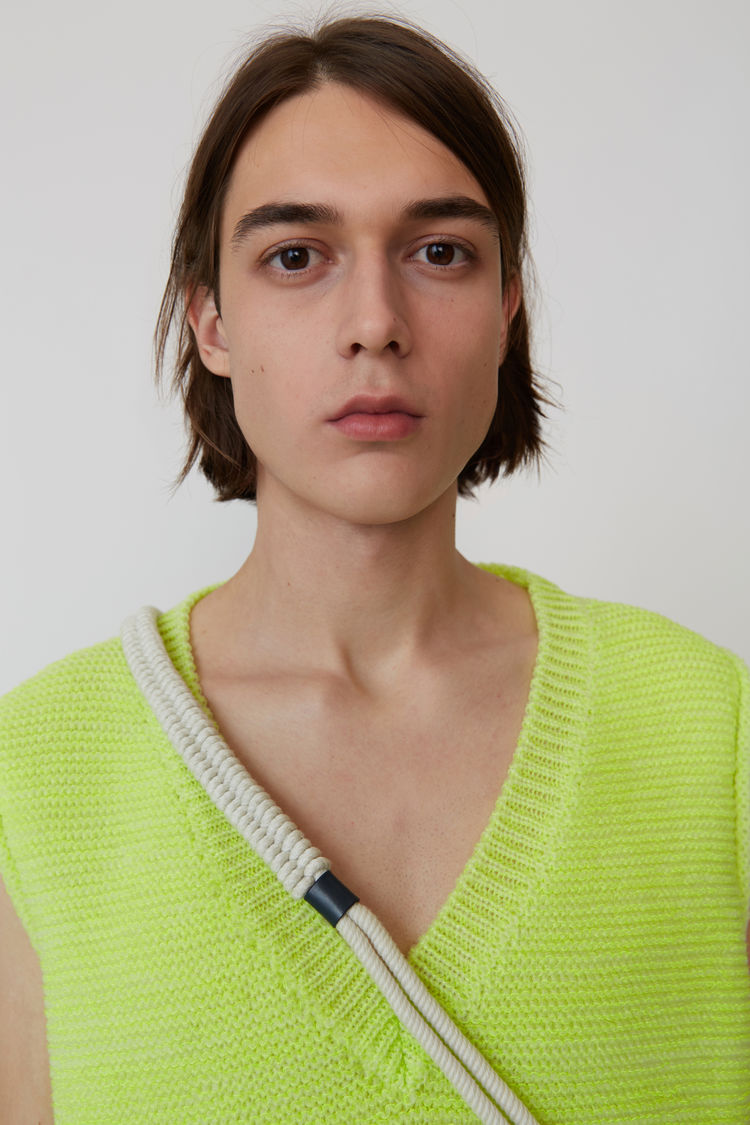 Acne Studios - Sweater vest Fluo yellow - 2