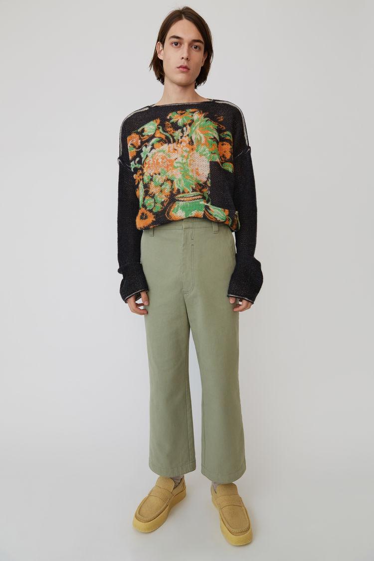 Acne Studios - Cotton trousers Stone grey - 1