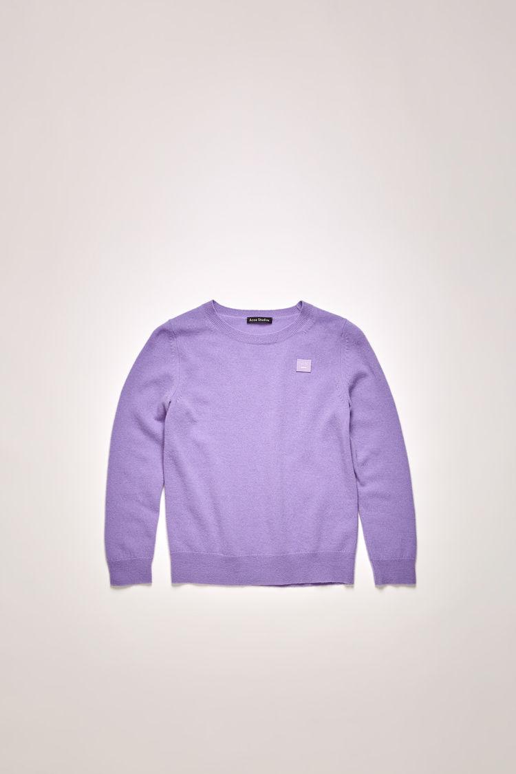 아크네 스튜디오 아동 스웨터 페이스 로고 Acne Studios Mini face-patch sweater lavender purple